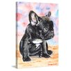 "Marmont Hill ""French Bulldog Puppy 2"" by George Dyachenko Painting Print on Wrapped Canvas"
