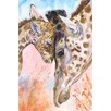 """Marmont Hill """"Giraffes Family 2"""" by George Dyachenko Painting Print on Wrapped Canvas"""