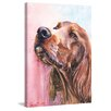 "Marmont Hill ""Irish Setter"" by George Dyachenko Painting Print on Wrapped Canvas"