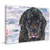 """Marmont Hill """"Newfoundland"""" by George Dyachenko Painting Print on Wrapped Canvas"""