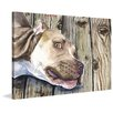 "Marmont Hill ""Pitbull"" by George Dyachenko Painting Print on Wrapped Canvas"