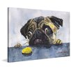"Marmont Hill ""Pug and Cookie"" by George Dyachenko Painting Print on Wrapped Canvas"