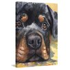 "Marmont Hill ""Rottweiler"" by George Dyachenko Painting Print on Wrapped Canvas"