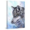 "Marmont Hill ""Wolf"" by George Dyachenko Painting Print on Wrapped Canvas"