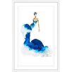 Marmont Hill 'Blue Ink' by Claire Thompson Framed Painting Print