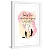 Marmont Hill 'Keeps Me Going' by Martina Pavlova Framed Graphic Art
