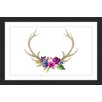 Marmont Hill 'Floral Antlers' by Dena Cooper Framed Painting Print