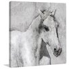 Marmont Hill 'Grey Elegant Horse' by Irena Orlov Painting Print on Wrapped Canvas