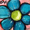 Marmont Hill 'Love Blue Flower' by Tori Campisi Painting Print on Wrapped Canvas