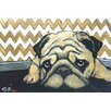 Marmont Hill 'Pug's Holiday' by Tori Campisi Painting Print on Wrapped Canvas