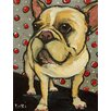 Marmont Hill 'Frenchie Gift Wrap' by Tori Campisi Painting Print on Wrapped Canvas