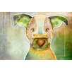 Marmont Hill 'Dog with Bone II' by Connie Haley Graphic Art on Wrapped Canvas