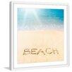 "Marmont Hill ""Sandy Beach"" Framed Painting Print"