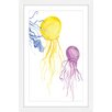 Marmont Hill 'Jellyfish 2' by Diana Alcala Framed Painting Print