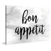 Marmont Hill 'Bon Appetit' by Diana Alcala Typography on Wrapped Canvas