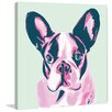 Marmont Hill 'French Bulldog' by Molly Rosner Painting Print on Wrapped Canvas