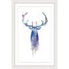 Marmont Hill Moose Paint Framed Art Print
