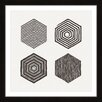 Marmont Hill Hexagons Framed Graphic Art