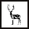 Marmont Hill Deer Framed Graphic Art