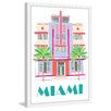 "Marmont Hill ""Miami Art Deco"" by Molly Rosner Framed Painting Print"