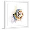 Marmont Hill 'Snail Shell' by Rachel Byler Framed Painting Print