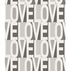 "Bobby Berk Home Love 33' x 20.5"" Typographic Wallpaper"