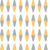 "Bobby Berk Home Retrogeo Diamond 33' x 20.5"" Geometric Wallpaper"
