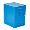 OSP Designs 3 Drawer Metal File Cabinet
