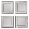 OSP Designs Decorative Square Wall Mirror (Set of 4)