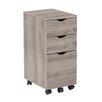 OSP Designs Lois 3 Drawer Mobile File Cabinet