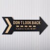 Adams & Co Don't Look Back Arrow Wall Décor