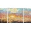 Artefx Decor Paradise Sunset Textured Triptych by Studio 212 3 Piece Painting Print on Canvas Set