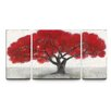Artefx Decor 'The Deepest Hue' 3 Piece Painting Print on Wrapped Canvas Set