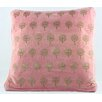 Timbergirl Handblocked Cotton Throw Pillow