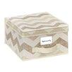 Macbeth Collection Textured Chevron Storage Box