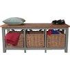 Firmans Direct Garderobenbank mit Stauraum aus Holz