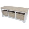 Firmans Direct Wood Storage Entryway Bench