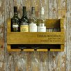 Minster 4 Bottle Wall Mounted Wine Rack