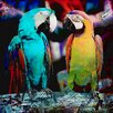 "Salty & Sweet ""Parrot Friends"" Graphic Art on Canvas"