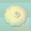 """Salty & Sweet """"Powder Flower Cream"""" Graphic Art on Canvas"""