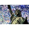 "Salty & Sweet ""Graffiti Liberty One"" Canvas Art"