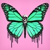 """Salty & Sweet """"Dripping Wings Pink"""" Canvas Art"""