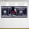 """Salty & Sweet """"Daft Cash Silver"""" Graphic Art on Canvas"""