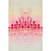 "Fluorescent Palace ""Chrystal Light"" Graphic Art on Canvas in Red"
