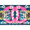 Fluorescent Palace 'Acrylic Attraction Pink' Graphic Art on Canvas in Pink