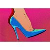 Fluorescent Palace Heel Toe Let's Go Pink Graphic Art on Canvas