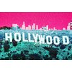 Fluorescent Palace Hollywoodland Graphic Art on Canvas