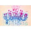 Fluorescent Palace Liquid Chandelier Cream Graphic Art on Canvas