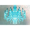 """Fluorescent Palace """"Paparazzi Playhouse"""" Graphic Art on Canvas in Blue"""