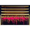 "Fluorescent Palace ""Why SL Neon Drip Pink"" Canvas Art"